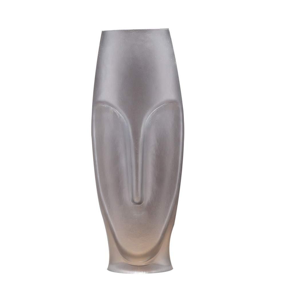 色ガラス花瓶用花緑植物結婚式の植木鉢装飾ホームオフィスデスク花瓶花バスケットフロア花瓶 (サイズ さいず : L l) B07R58M62K  L l