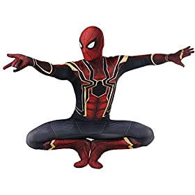 - 415LuyUR6YL - ReliCos Adult Unisex Zentai Bodysuit Halloween Cosplay Costume