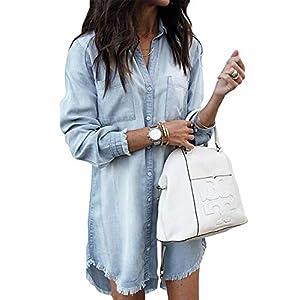 Women's Denim Shirt Dresses  Casual Jean Dress