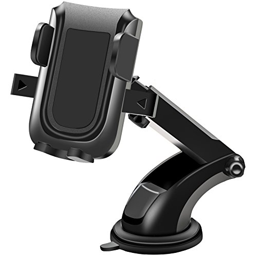 FYHD Car Phone Mount with Extendable Telescopic Arm, Universal Smartphone Car Holder for Car Windshield/Dashboard Compatible with iPhone X 8 8 Plus Samsung Galaxy LG Nexus Sony Nokia and More...