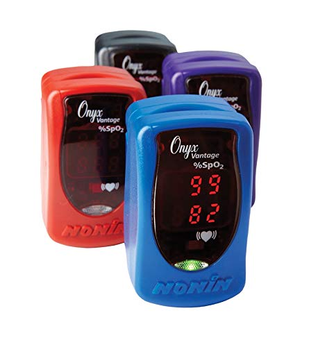 Nonin Onyx - Nonin Onyx Vantage 9590 Finger Adult/Pediatric Pulse Oximeter with Free Carrying Case. #1 Professional Oximeter Made in USA - Purple