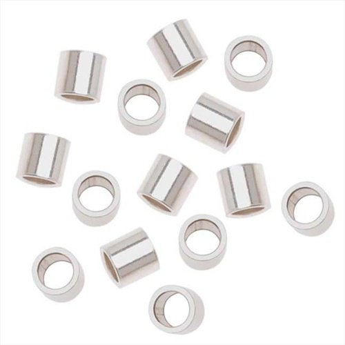 Sterling Silver Crimp Beads Large 3X3mm (3mm Ss Bead)