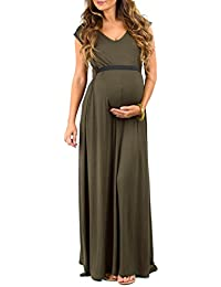 Women's Flowy Maternity Dress with Tummy Band by Mother...