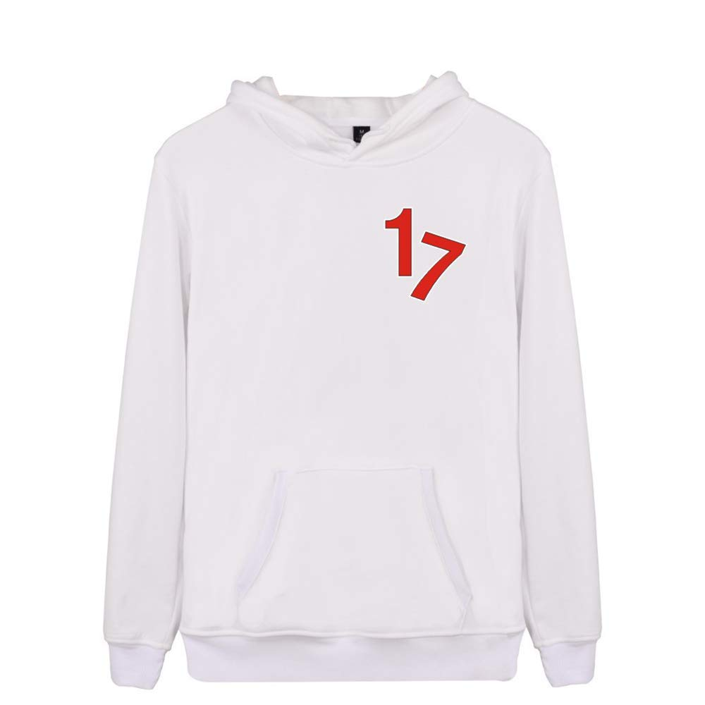 Seventeen Pullover Autumn Winter Hooded Sweatshirt Simple Comfortable Pullover Long Sleeve Tops Unisex