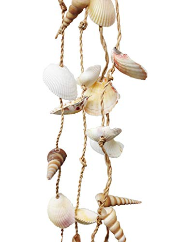 PEPPERLONELY 6 Feet Natural Clam Shell Garland for Decoration