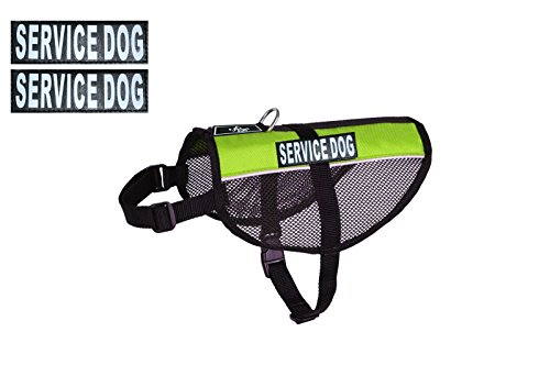 Service Dog mesh Vest Harness Cool Comfort Nylon for Dogs Small Medium Large Purchase Comes with 2 Reflective Service Dog Removable Patches. Please Measure Your Dog Before Ordering