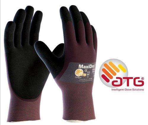 MaxiDry 3/4 Coated - 56-425 Nitrile Foam Palm Coated Work gloves - 8/M ATG