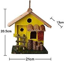 Casa Del Pájaro Creative Spire Casa De Madera For Pájaros Alzado Exterior Patio Inglés Jardín Chozas Casa De Pájaros Pequeña Casa De Pájaros Pajarera Madera Natural Hecha A Mano Ideal Para Uso