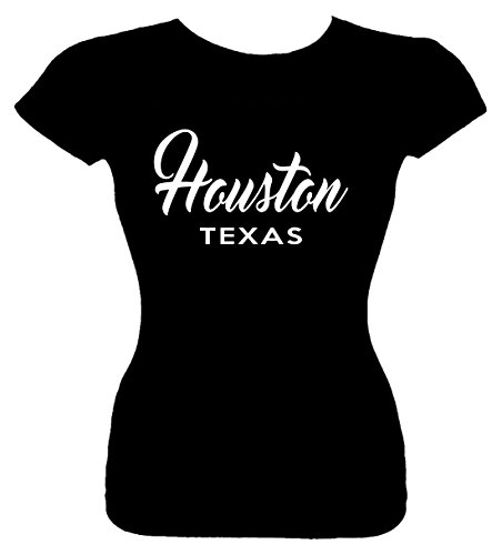 Signature Depot Junior's Size XL T-Shirt (Houston Texas (City State) Fitted Girls Shirt
