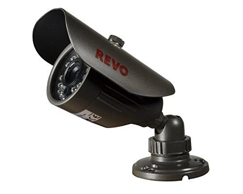 REVO America RCBS30-2A 660 TVL Indoor/Outdoor Bullet Surveillance Camera with 80-Feet Night Vision (Gray)