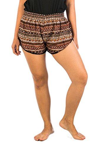 Lofbaz - Bermudas - para mujer marrón
