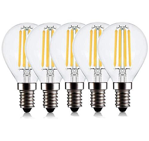 5 Pack Vintage Edison Light Bulbs Old Fashioned Style Screw Bulb Decorative Spiral Filament Lamp E26 / E27 110-240V, Warmwhite, 6W, BOSS LV, Yellowlight, 4w from BOSS LV