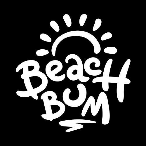Beach Bum Ocean Vinyl Decal Sticker | Cars Trucks Vans SUVs Walls Cups Laptops | 5.5 Inch | White | KCD2637