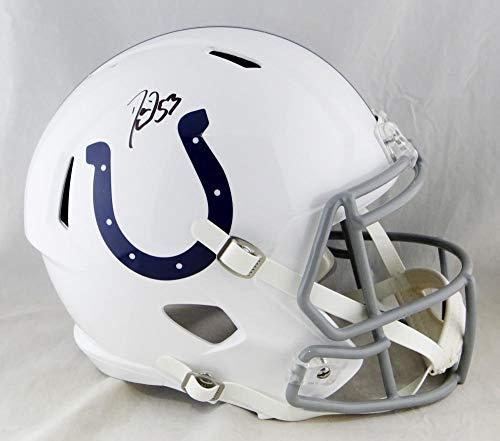 Darius Leonard Autographed F/S Indianapolis Colts Speed Helmet- JSA W Auth Black