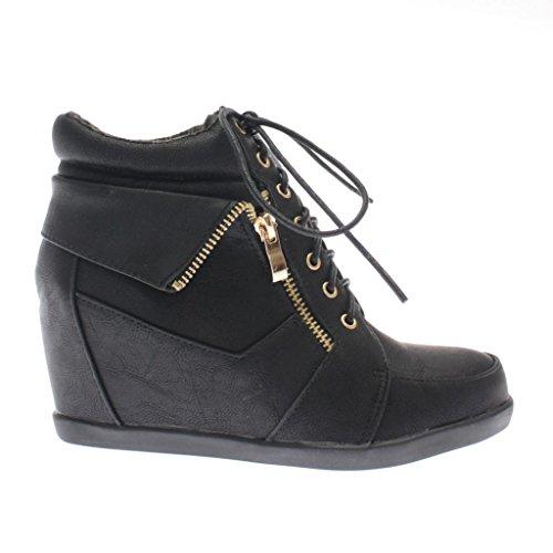 Top Moda Womens Peter Fashion Sneakers BK2 7.5