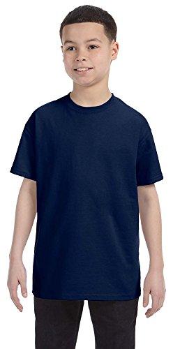 Jerzees Youth 5.6 oz., 50/50 Heavyweight Blend T-Shirt, XL, J NAVY (Youth Blend Jerzees Heavyweight)