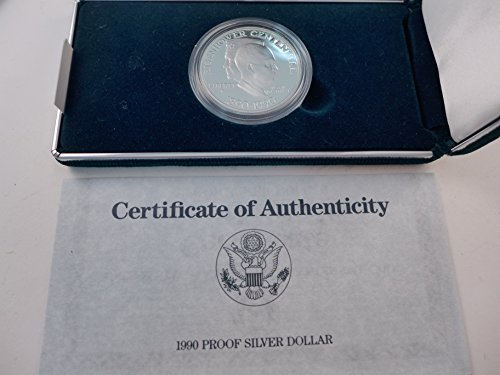 1990 Eisenhower Silver Dollar Proof $1 Mint State US Mint