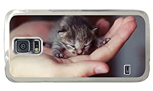 Hipster Samsung Galaxy S5 Case most protective covers cute little kitten PC Transparent for Samsung S5