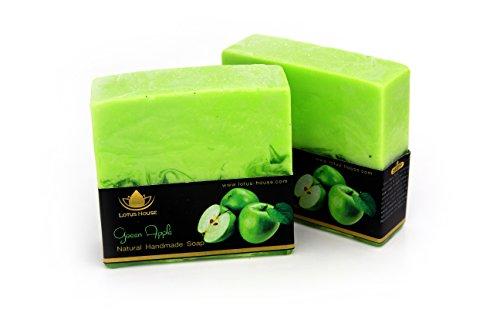 Lotus House Green Apple Natural Handmade Soap (300g) / 3 (Apple Bar Soap)