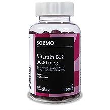 Amazon Brand - Solimo Vitamin B12 3000mcg, 100 Gummies, 50-Day Supply