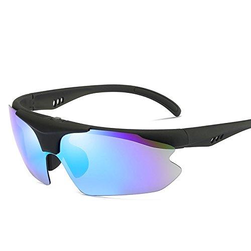 TIANLIANG04 Semi Caja Sol blue Hombres Plegable Polarizadas De Gafas Hombres Reborde Uv400 lens De Polarizadas La Para Conducción Con Sol De Gafas Lente Roja 44xq5rFwP
