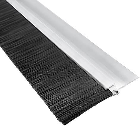 H-shaped bottom sweep aluminum alloy base with 1.6 inch black nylon brush 39 inches x 2.68 inches