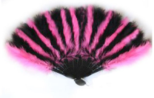large black feather hand fan - 9