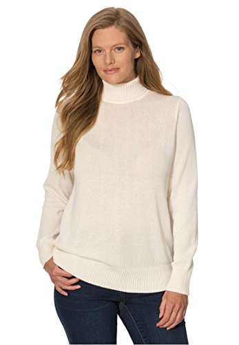 Womens Plus Turtleneck Sweater Ribbed product image