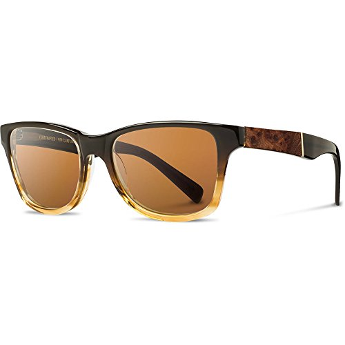 Shwood - Canby Acetate, Sustainability Meets Style, Sweet Tea/Elm Burl, Brown Polarized - Shwood Sunglasses Wooden