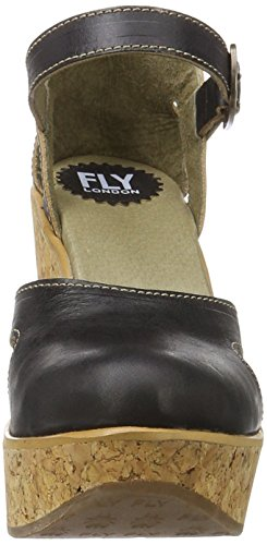 Fly black Hoba931fly 000 Donna Con Tacco Scarpe Nero London zgzxZnwH