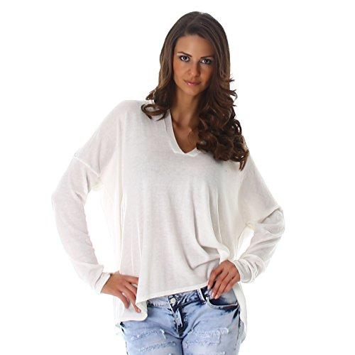 London JELA Fine Maille Femmes col V Pull Sweatshirts 477wpZ