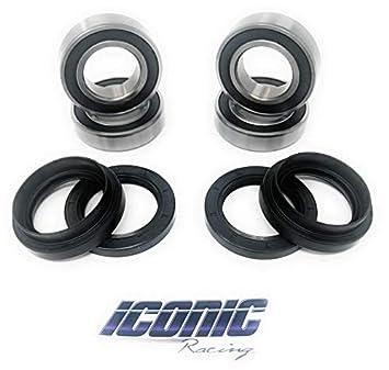 Yamaha Rhino 660 >> Iconic Racing Both Front Wheel Bearings And Seals Kits Compatible With 04 13 Yamaha Rhino 450 660 700