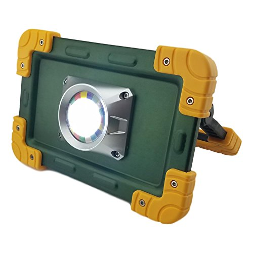 30 Watt Portable 2000 Lumen LED COB Work Light,Outdoor Flood Light, for Workshop,Construction Site Building Camping,Hiking,Car Repair, Rechargeable Battery Power Bank