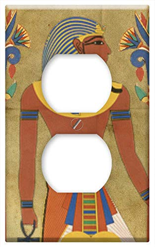 Switch Plate Outlet Cover - Egyptian Tutunkhamun Pharaoh Design Man Headpiece ()