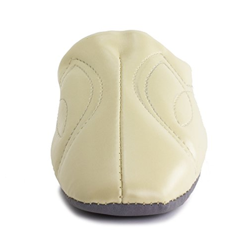 Vinyl Women's House Adults Slippers Beige Rxdgw