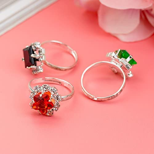 Amazon.com: Fineder - 36 anillos de diamantes de imitación ...