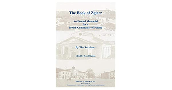 The Book of Zgierz - An Eternal Memorial for a Jewish