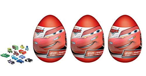 3psc Disney Cars Eggs plastic Toy and Candy