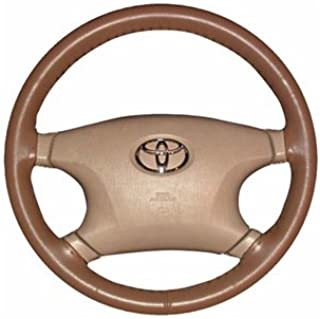 product image for Wheelskins Original One Color non perforated style Leather Steering Wheel Cover - Color: Charcoal, Size: 15 1/2 inches X 3 3/4 inches