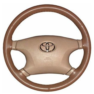 Oak - WHEELSKINS Genuine Leather Steering Wheel Cover - Original One Color (non perforated) - Size AXX
