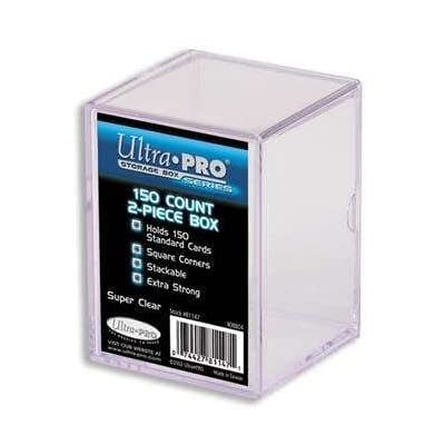 Ultra Pro 81147 2-Piece 150 Count Clear Card Storage Box: Sports & Outdoors