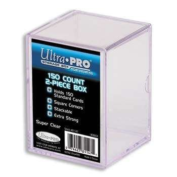 Ultra Pro 81147 2-Piece 150 Count Clear Card Storage Box ()