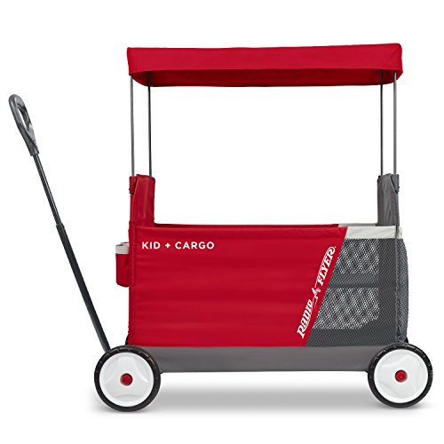 Radio Flyer Kid & Cargo with Canopy, Folding Wagon with 2 Versatile Seats, Red by Radio Flyer (Image #6)