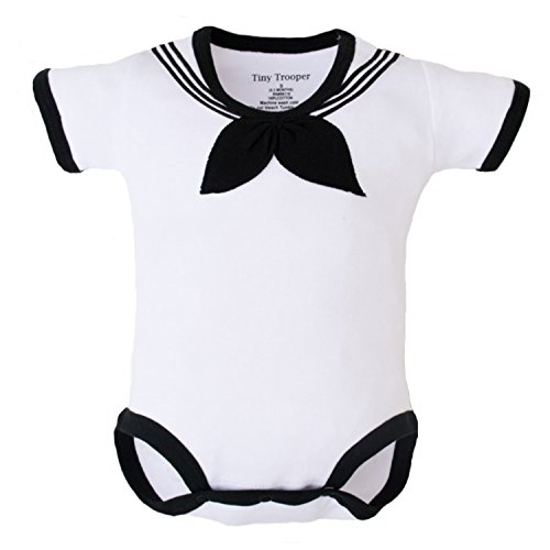 Trendy Apparel Shop Cracker Jack Sailor Uniform Infant Bodysuit - White - 3 - 6 Months