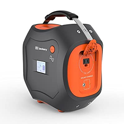 Jackery [ETL Certified] Powerpro 500Wh Portable Solar Rechargeable Battery Quiet Generator for Camping