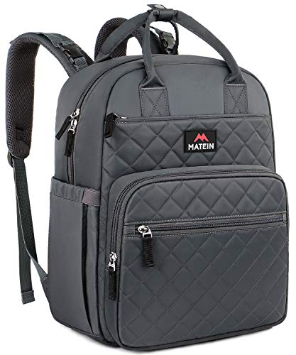 Baby Diaper Bag Backpack, Mancro Large Multi-Function Travel Back Pack Bag with Changing Pad for Mom/Dad, Gray