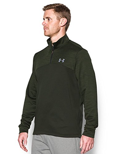 Under Armour Men's Storm Armour Fleece 1/4 Zip, Artillery Green (357)/Steel, Small by Under Armour (Image #1)