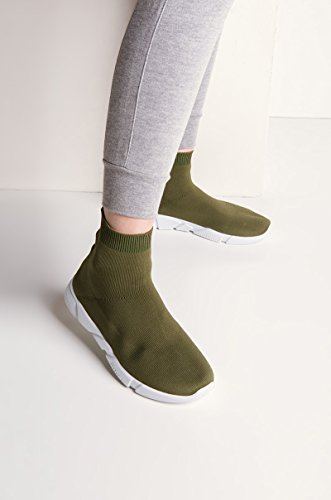 Gå För Det Tänjbar Sneakers Oliv