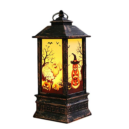 Handley-1 LED Flameless Lamp,Halloween Fireplace Lantern Battery Operated Table Night Lamps for Halloween Party DIY Decor