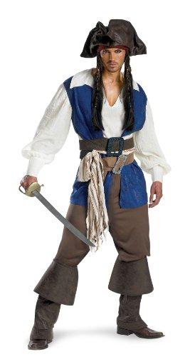 [5035 (XL 42-46) Captain Jack Sparrow Deluxe] (Deluxe Adult Elizabeth Costumes)
